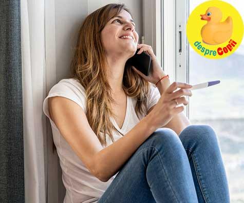 O zi emotionanta si primul test de sarcina pozitiv - jurnal de sarcina