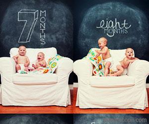 Cum creste copilul in primul an de viata cu ochii aparatului fotografic