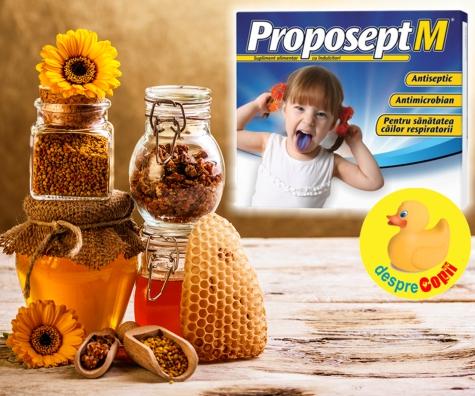 Durerile de gat ale copiilor: cum le putem face fata cu un produs cu extracte naturale standardizate si albastru de metilen