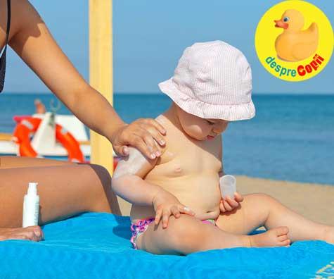 Cum alegem crema de protectie solara potrivita pentru bebelusi si copii?