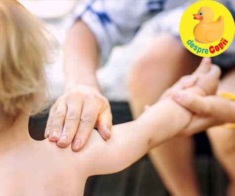 Sfaturi pentru aplicarea cremei de protectie solara la copii