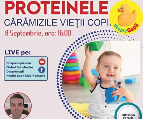 Proteinele, caramizile vietii copiilor - sfatul medicului. O emisiune cu sfaturi esentiale pentru mamici de bebelusi