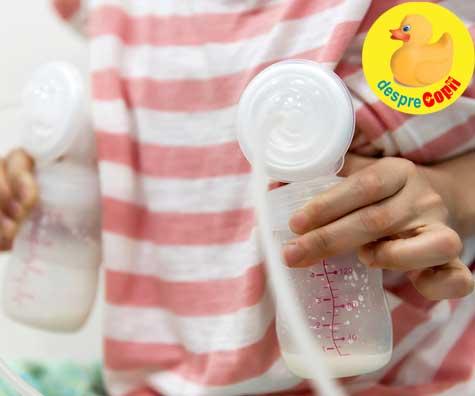 Pomparea laptelui matern: Nu am mult lapte cand pompez, oare productia de lapte este scazuta?