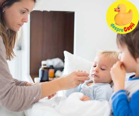 Simptome de raceala si gripa la copii si bebelusi - Infografic si Test