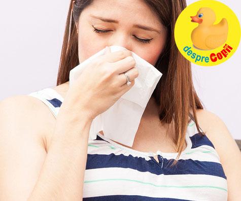Eruptia acneica si rinita de sarcina - sfatul medicului