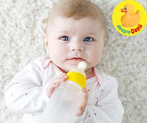 12 Riscuri ale hranirii bebelusului cu lapte praf formula - pe care orice mamica de bebe trebuie sa le cunoasca