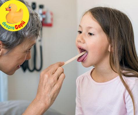 Rosu in gat? Daca amigdalita copilului este incorect tratata poate provoca alte infectii