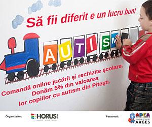Horus Center este alaturi de copii cu autism