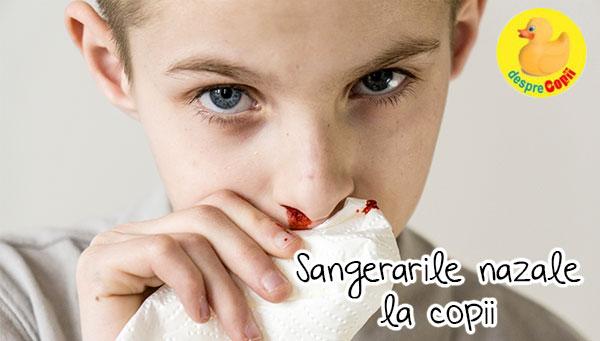 Sangerarile nazale la copii