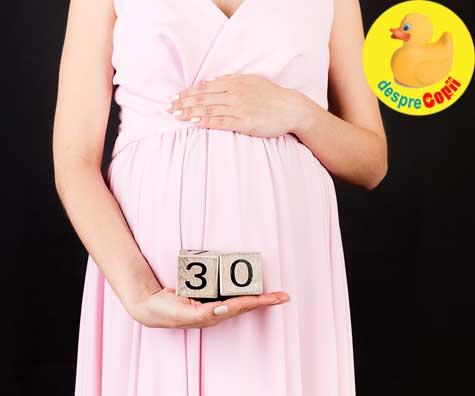 Un nou prag, saptamana 30 - jurnal de sarcina