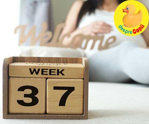 La 37 de saptamani bebe se joaca cu cordonul ombilical - jurnal de sarcina