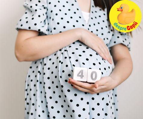 La 40 de saptamani bebe nu vroia sa vina pe lume - jurnal de sarcina