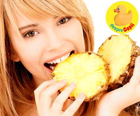 Sarcina si consumul de ananas - sa clarificam ingrijorarea despre declansarea nasterii premature