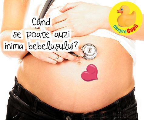 Cand se poate auzi inima bebelusului?