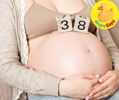 Timpul parca a zburat pana la 38 de saptamani - jurnal de sarcina