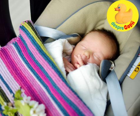 Siguranta bebelusului in masina - sfatul medicului pediatru