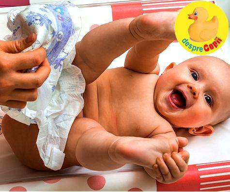 Operatiunea scutecelul: sfaturi pentru un bebe curatel si vesel