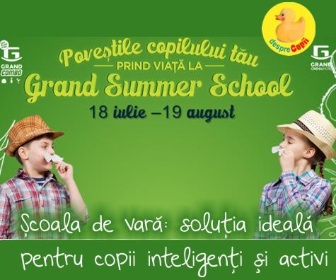 Cursurile pentru copii organizate la Grand Summer School: pentru copii creativi si inteligenti