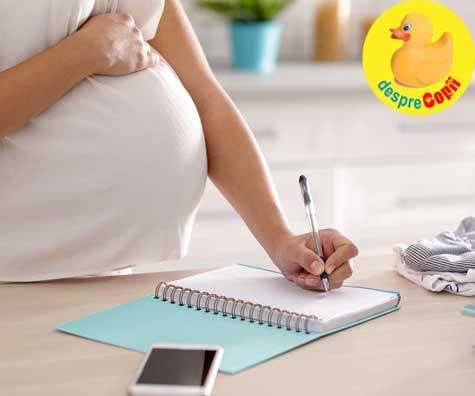 Scrisoare pentru bebelusul din burtica - jurnal de sarcina