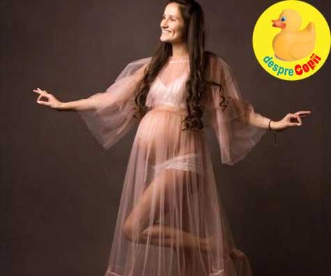 Burtica vedeta la sesiunea foto de maternitate - jurnal de sarcina
