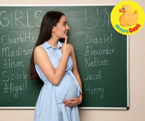 Am aflat sexul bebelusului si aveam deja numele ales - jurnal de sarcina