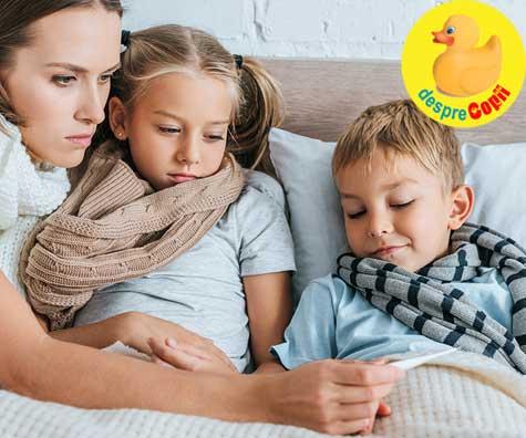 Sezonul de raceli si gripa la copii in paralel cu pandemia de coronavirus - 8 sfaturi pentru parinti