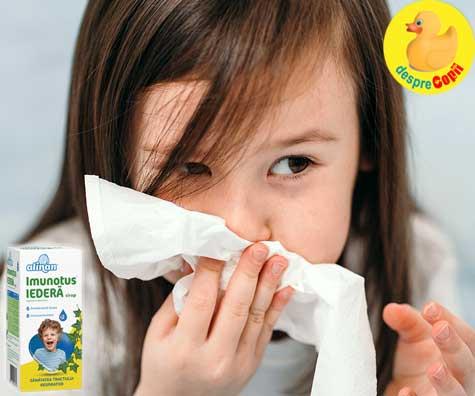 Combate tusea copilului și ajută-l să respire mai ușor cu ajutorul plantelor iar iedera este de mare ajutor