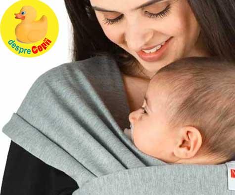 Vrei sa iti porti bebelusul in sling sau wrap? Aceasta este pozitia in care trebuie sa o faci.