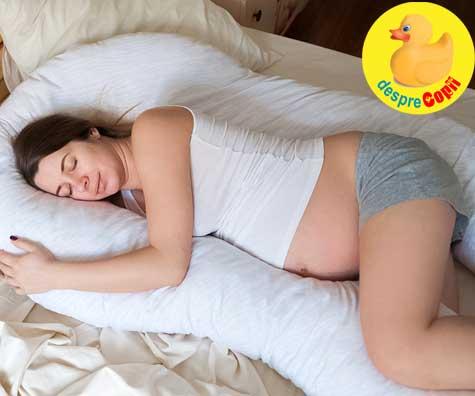 Probleme cu somnul in timpul sarcinii? Descopera cele mai bune pozitii si ajutoare pentru somn