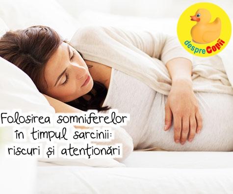 Folosirea somniferelor in timpul sarcinii: riscuri si atentionari
