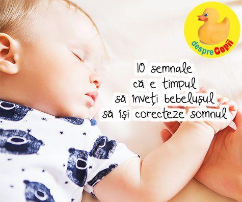 10 semnale ca e timpul sa inveti bebelusul sa isi corecteze somnul
