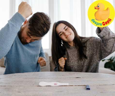 Sotul primeste vestea cea mare ca va fi tatic - jurnal de sarcina