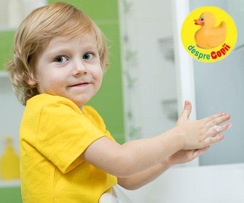 Cum si de ce e bine sa invatam copiii sa se spele pe maini corect?