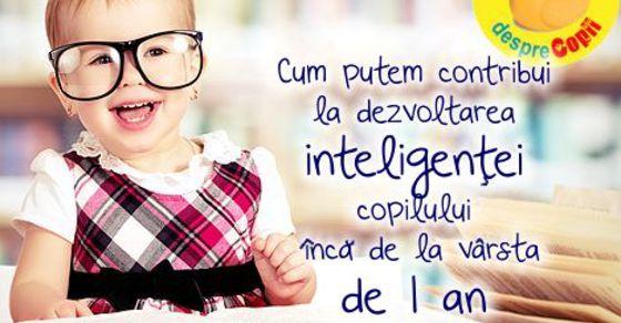Cum putem contribui la dezvoltarea inteligentei copilului inca de la varsta de 1 an