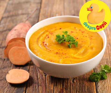 Supa crema de cartof dulce - reteta pentru bebelusi