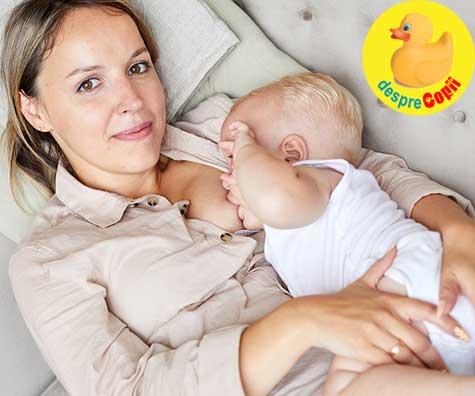 Alaptarea pana adoarme si suptul de confort al bebelusului - indiferent de barfe, este foarte OK sa te bucuri de acest instrument minunat