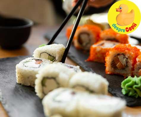 Sunt gravida: pot manca sushi?