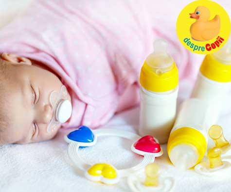 Greseli in alaptare: oferi bebelusului suzeta sau biberonul prea devreme