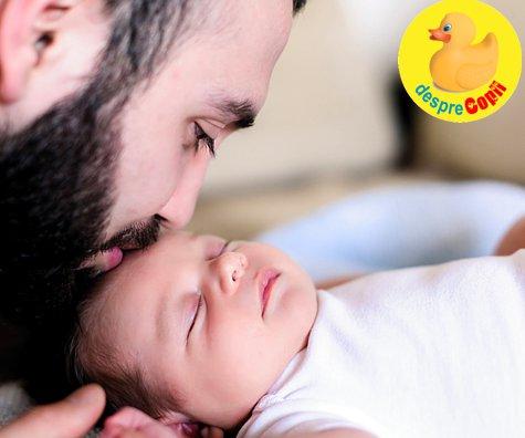 Sunt tata de bebelus si asta imi umple inima de un vulcan de sentimente