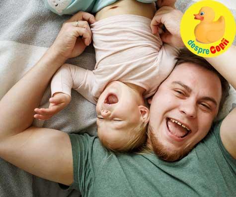 Tati, comportamentul tau influenteaza sanatatea copilului. Un tata gras risca sa aiba un copil obez.