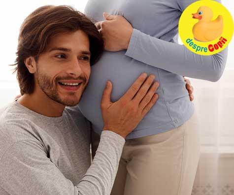 Interactiunea bebelinei din burtica cu tati - jurnal de sarcina
