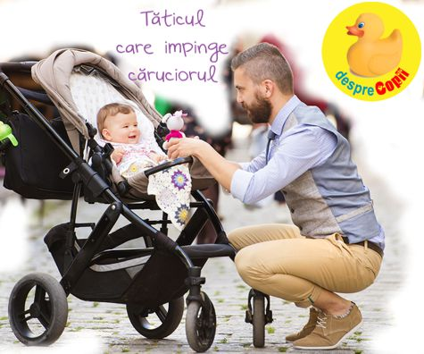 Taticul care impinge caruciorul in parc: un sfat special pentru cuplurile insarcinate