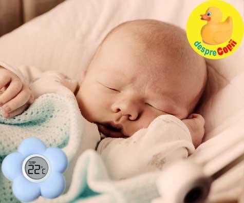 Mamici, aceasta este temperatura ideala in camera pentru un nou-nascut.
