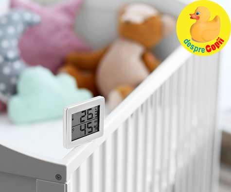 Greselile mamicilor de bebelusi: au o temperatura NEADECVATA in camera bebelusului