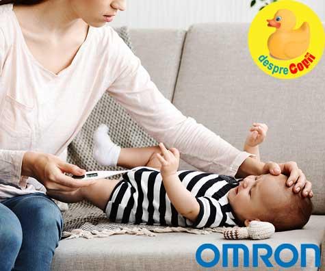 Masoara corect febra bebelusului tau pentru a depista din timp orice boala
