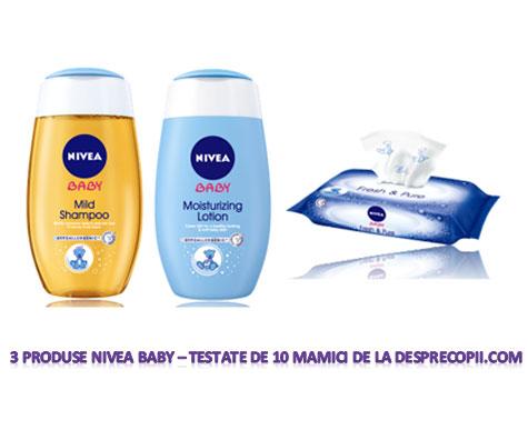 3 produse Nivea Baby testate de 10 mamici de la desprecopii.com