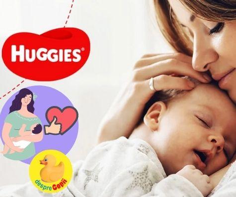 Huggies Newborn - scutecele create special pentru nou-nascuti: parerile mamicilor care le-au testat