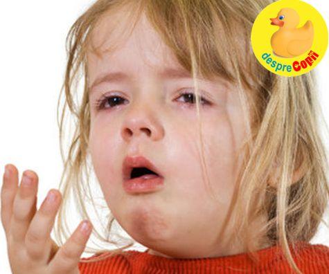 Tipuri de tuse la copii si tratarea lor