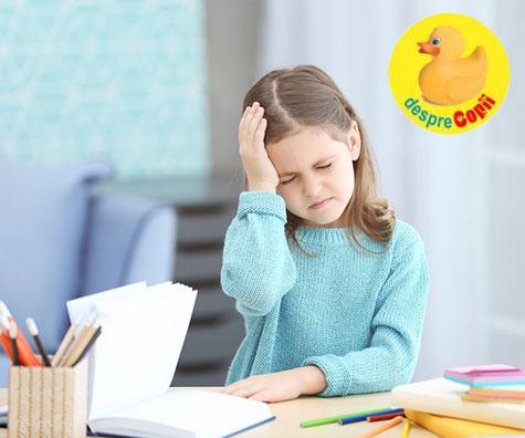 Ce tipuri de dureri de cap pot avea copiii?