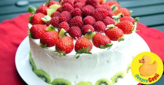 18 retete de torturi rapide cu fructe